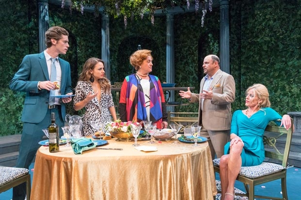The cast of The Portuguese Kid, written and directed by John Patrick Shanley, at New York City Center — Stage I.