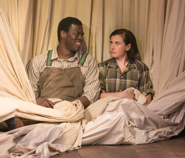 Kyle Scatliffe and Hannah Cabell star in William Shakespeare's As You Like It, directed by John Doyle, at Classic Stage Company.