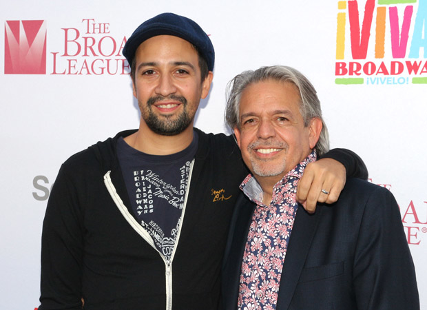 Hamilton's Lin-Manuel Miranda and his father Luis Miranda Jr., founding president of the Hispanic Federation.