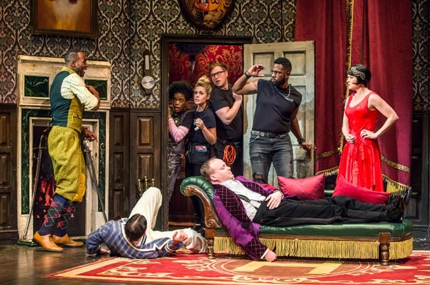 The new cast of The Play That Goes Wrong, directed by Mark Bell, find themselves in the middle of some wacky hijinks at the Lyceum Theatre.