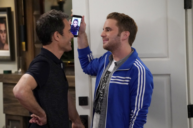 Eric McCormack and Tony Winner Ben Platt in an upcoming episode of NBC's Will & Grace.