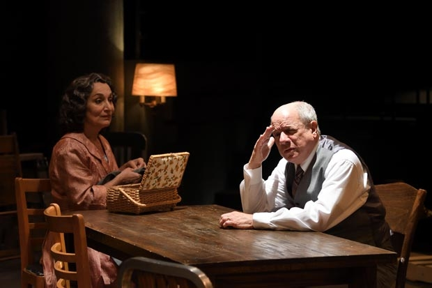 Phyllis Kay as Linda and Stephen Berenson as Willy Loman in Arthur Miller's Death of a Salesman, directed by Brian McEleney, at Trinity Rep.
