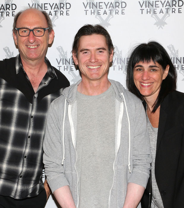 The company of Harry Clarke: playwright David Cale, actor Billy Crudup, and director Leigh Silverman meet the press.