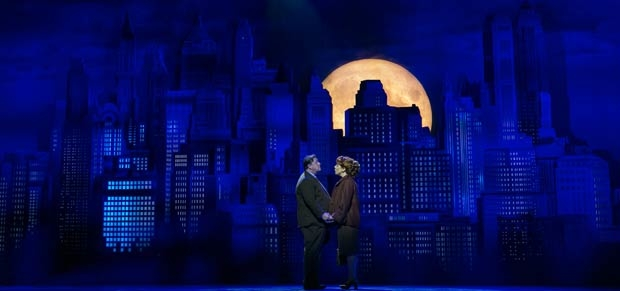 Michael McGrath and Leslie Kritzer in a scene from The Honeymooners, directed by John Rando, at Paper Mill Playhouse.