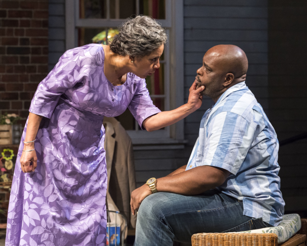Phylicia Rashad and J. Bernard Calloway in ''Head of Passes, directed by Tina Landau, at the Mark Taper Forum.