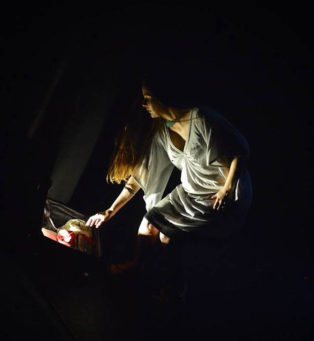 Jenna Zafiropoulos as Alcestis in a scene from The Briefly Dead.