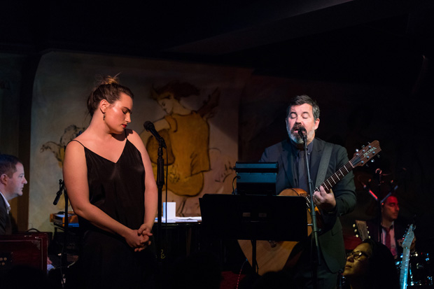 Kathryn Gallagher and Duncan Sheik perform at the Café Carlyle.