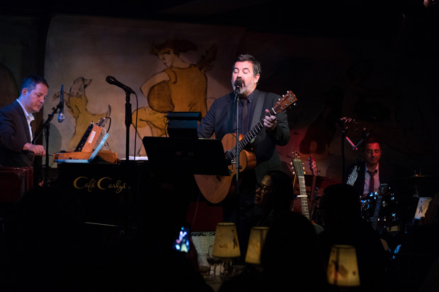 Duncan Sheik accompanies himself on seven different guitars over the course of his Café Carlyle debut.