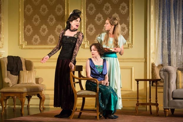Elizabeth McGovern, Brooke Bloom, and Charlotte Parry in a scene from Time and the Conways, directed by Rebecca Taichman, at the American Airlines Theatre.