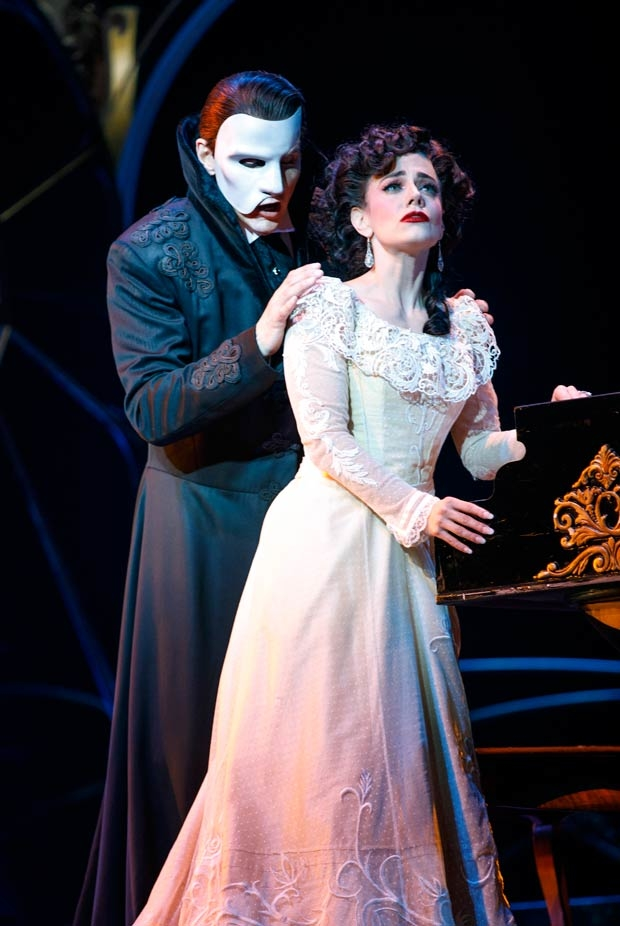 Gardar Thor Cortes stars as The Phantom and Meghan Picerno as Christine in the national tour of  Love Never Dies.