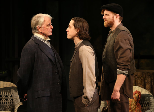 John Windsor-Cunningham, Johnny Hopkins, and Gordon Tashjian in The Home Place, directed by Charlotte Moore.
