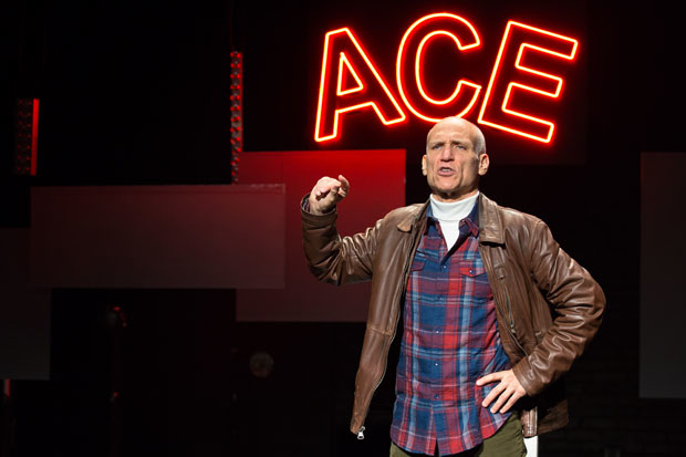 Ted Greenberg stars in his solo play, Ace, directed by Elizabeth Margid, at the Marjorie S. Deane Theater.