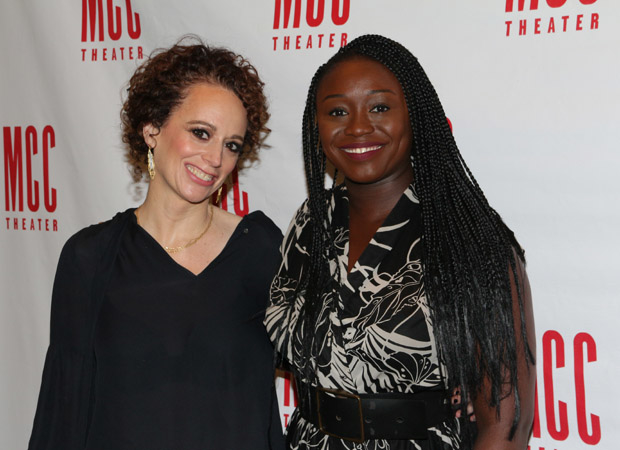 Director Rebecca Taichman and playwright Jocelyn Bioh get together for a photo.
