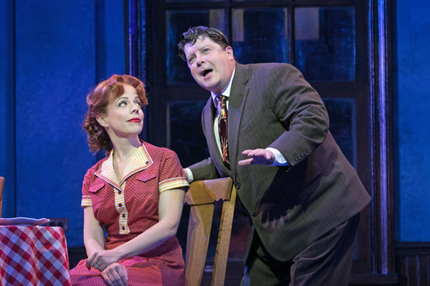 Leslie Kritzer (Alice) and Michael McGrath (Ralph) in the world premiere of The Honeymooners, directed by John Rando, at Paper Mill Playhouse.