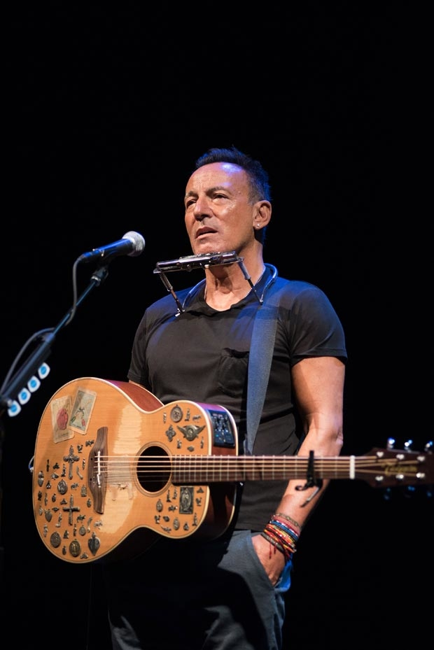 Bruce Springsteen makes his Broadway debut with Springsteen on Broadway at the Walter Kerr Theater.