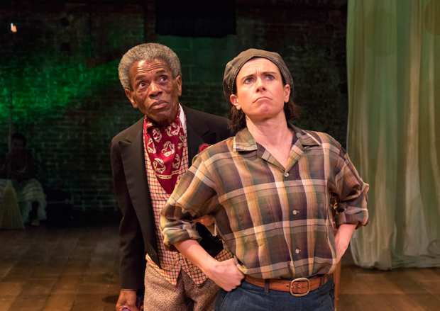 André De Shields, left, as Touchstone along with Hannah Cabell as Rosalind in As You Like It.