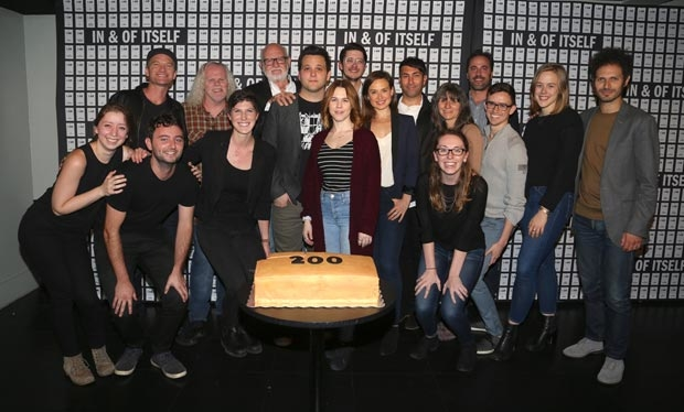 The company of In & Of Itself celebrates 200 performances.