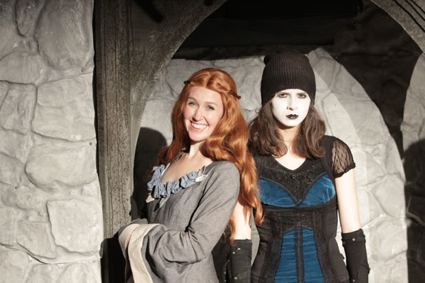 Allison Lobel plays Sansa, and Meghan Modrovsky plays Arya in Game of Thrones: The Rock Musical — An Unauthorized Parody.