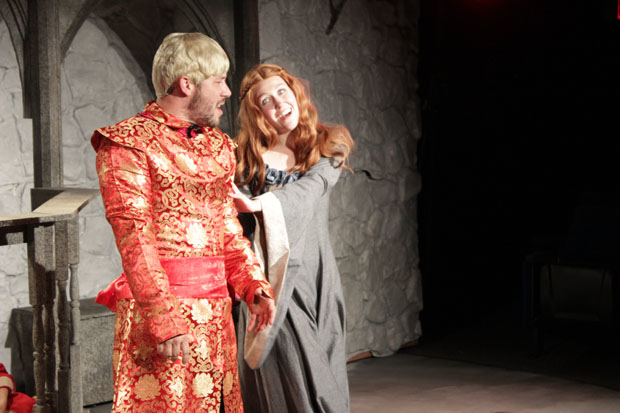Randy Wade Kelly plays Joffrey, and Allison Lobel plays Sansa in Game of Thrones: The Rock Musical — An Unauthorized Parody.