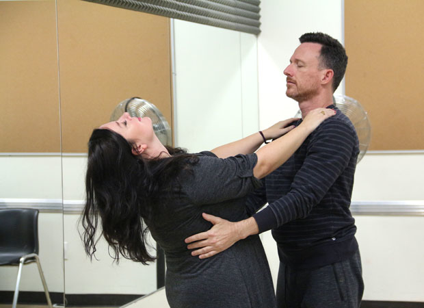 Zuzanna Szadkowski and Brad Heberlee have some fun rehearsing a scene together.