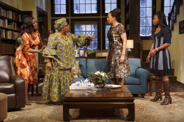 A scene from the Playwrights Horizons New York premiere of Danai Gurira's Familiar, which makes its D.C. premiere as part of the Women's Voices Theater Festival.
