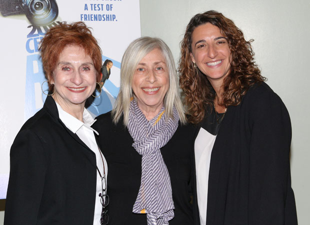 Producers Lida Orzeck (left) and Eva Price (right) snag a photo with playwright Susan Miller (center).