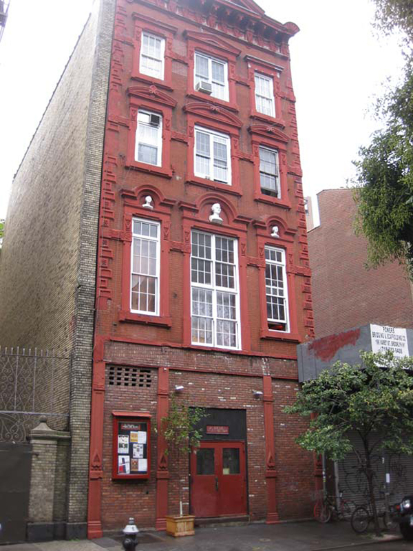 This is La MaMa's main building at 74A East Fourth Street.