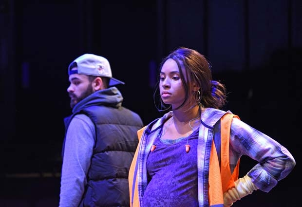 Will Adams Shenyse Harris star in Skeleton Crew, directed by Tiffany Nichole Greene, at Trinity Rep.
