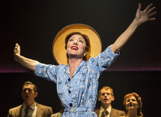 Carmen Cusack in Steve Martin and Edie Brickell's Bright Star at the Ahmanson Theatre.