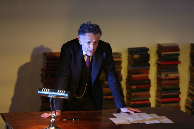 """David Greenspan in Transport Group's production of Eugene O'Neill's """"Strange Interlude,"""" directed by Jack Cummings III at the Irondate Theater Center."""