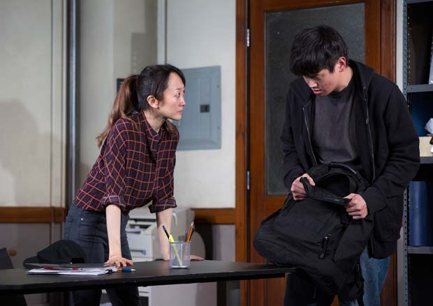 Sue Jean Kim and Ki Hong Lee star in Office Hour, directed by Neel Keller, at the Public Theater.