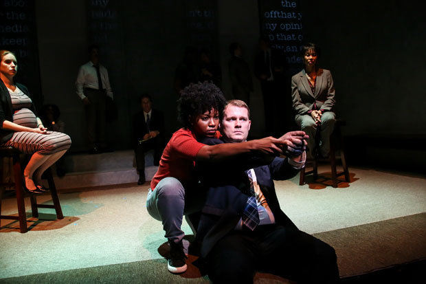 Renika Williams plays an eye withness with Ian Campbell Dunn as Darren Wilson.