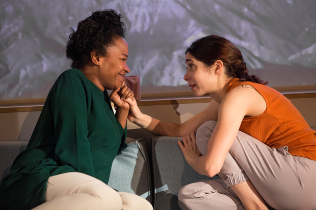 Eboni Booth and Cristin Milioti star in Zoe Kazan's After the Blast, directed by Lila Neugebauer, at LCT3.