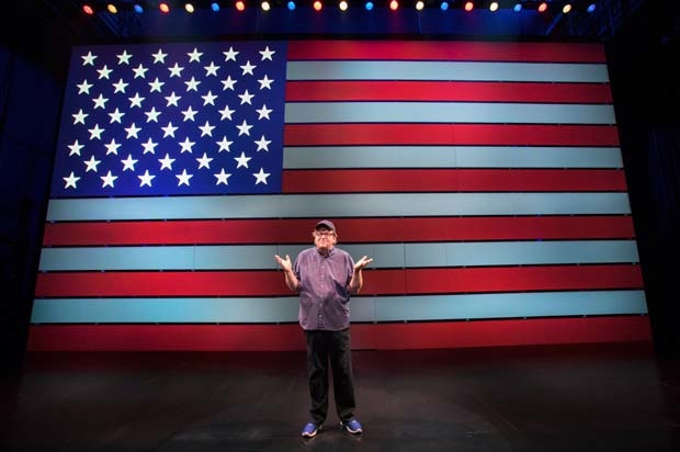 Michael Moore in a scene from The Terms of My Surrender.