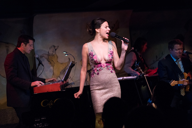 Mandy Gonzalez dances across the stage of the Café Carlyle, flanked by pianist John Deley and guitarist Matt Beck.