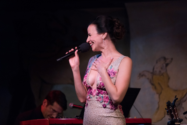 Mandy Gonzalez makes her Café Carlyle debut in Fearless!, music directed by John Deley (background).