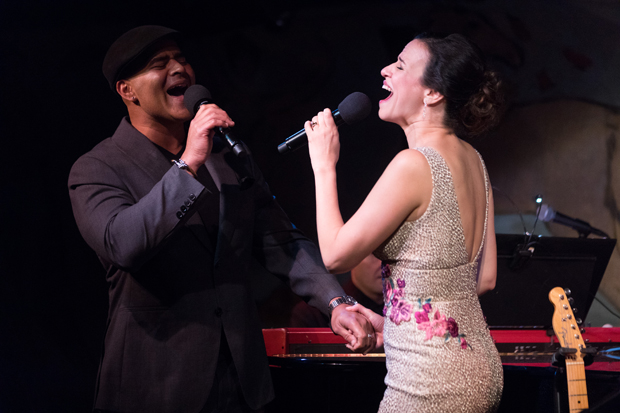 """Christopher Jackson and Mandy Gonzalez sing """"Life Is Sweet"""" at the Café Carlyle."""