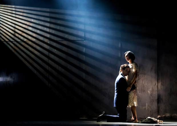 Clive Owen and Jin Ha in a scene from the Broadway revival of M. Butterfly.