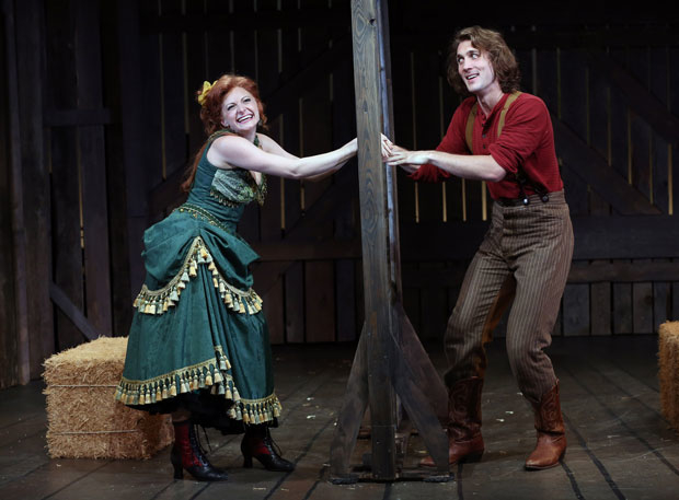 Lauren Molina and Conor Ryan in the York Theatre Company production of Desperate Measures.