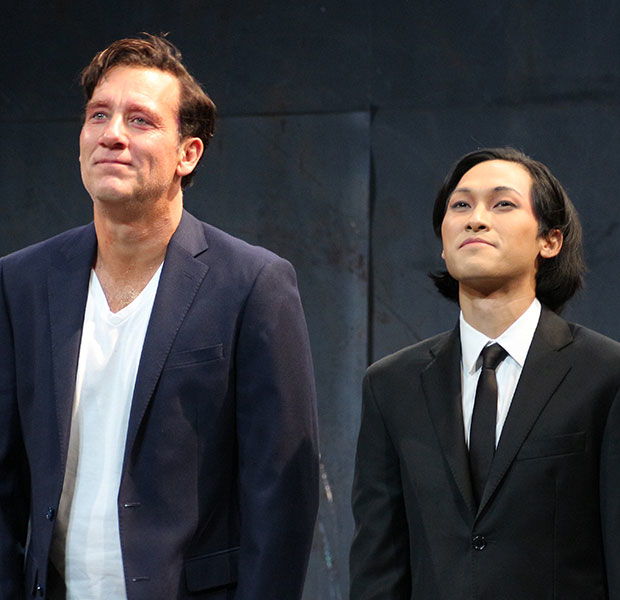 Clive Owen and Jin Ha bow as M. Butterfly opens on Broadway.