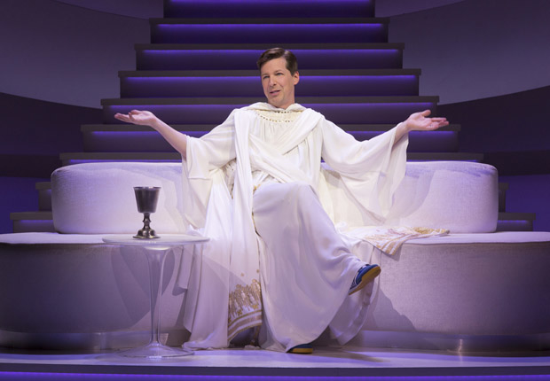 "Sean Hayes appeared as God in Broadway's An Act of God"". He will not be reprising his role in Wicked Clone''."
