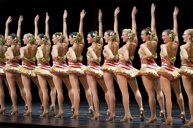 """The Rockettes perform """"12 Days of Christmas"""" at Radio City Music Hall."""
