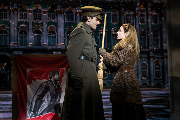 Ramin Karimloo and Christy Altomare in a scene from Anastasia.