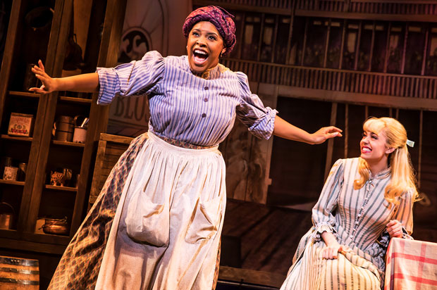 Bryonha Marie Parham and Kaley Ann Voorhees in the Show Boat section of Prince of Broadway.