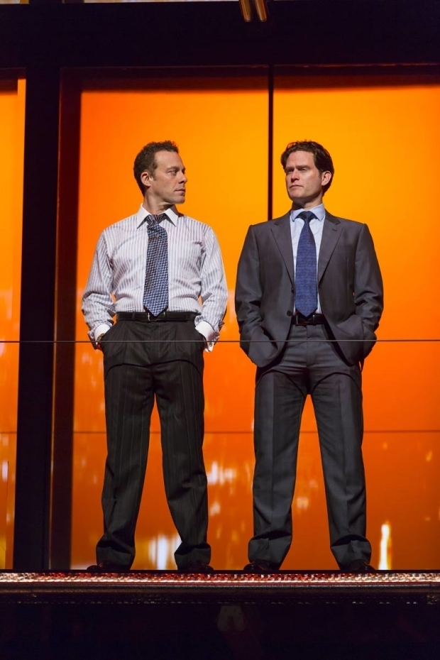 Matthew Rauch and Steven Pasquale in a scene from Junk.