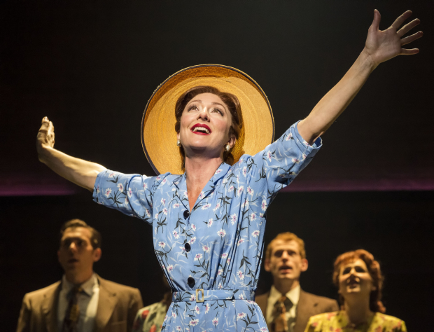 Carmen Cusack in Steve Martin and Edie Brickell's Bright Star, directed by Walter Bobbie, at the Ahmanson Theatre.