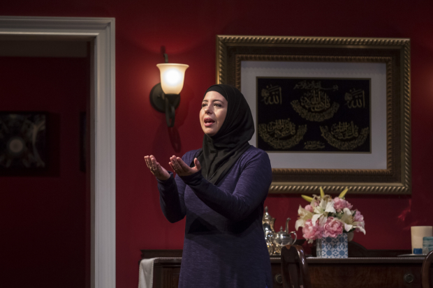 Susaan Jamshidi as the title character in Yasmina's Necklace, directed by Ann Filmer, at the Goodman Theatre.