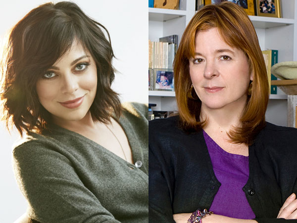 Krysta Rodriguez (left) stars as Eliza in the WP Theater production of What We're Up Against, written by Theresa Rebeck (right).