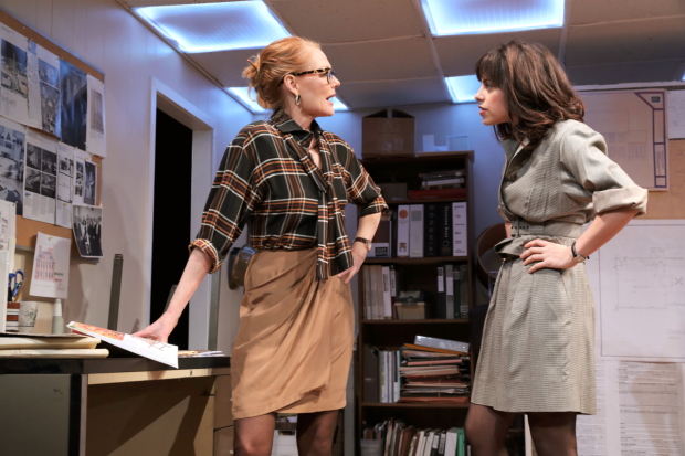Marg Helgenberger (Janice) and Krysta Rodriguez (Eliza) in a scene from What We're Up Against.