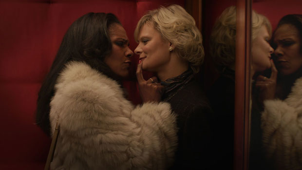 Audra McDonald and Martha Plimpton in the upcoming film adaptation of Michael John LaChiusa's Hello Again, set to be released on November 8.